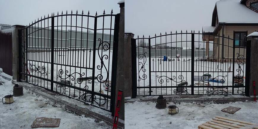 Кованые автоматические ворота под заказ