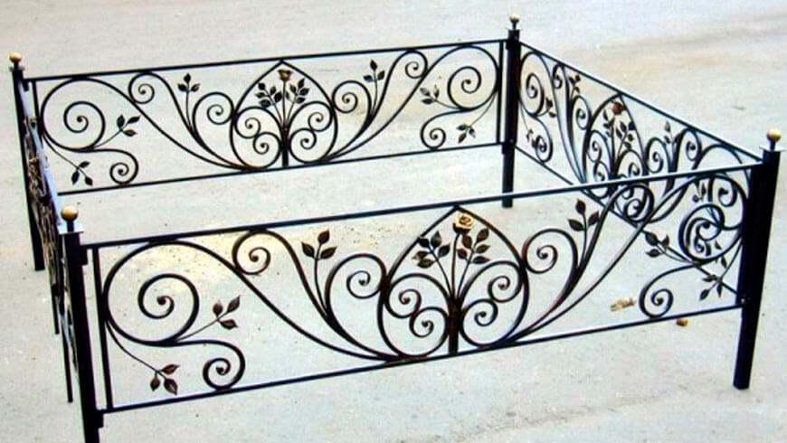 Кованая ритуальная ограда - купить в Минске