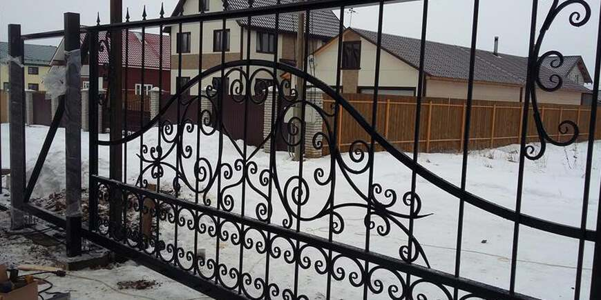 Кованые ворота под заказ в Минске