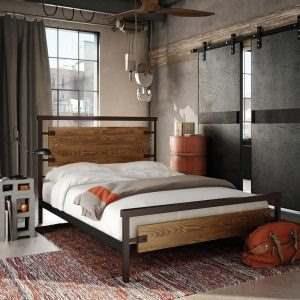 Кровать в стиле ЛОФТ 2