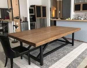 Обеденный стол в стиле лофт 1