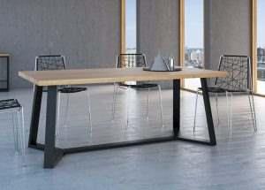 Обеденный стол в стиле лофт 10