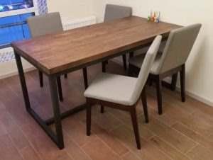Обеденный стол в стиле лофт 11
