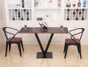Обеденный стол в стиле лофт 12