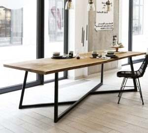 Обеденный стол в стиле лофт 14