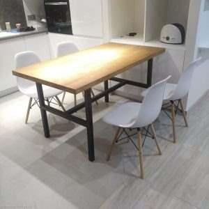 Обеденный стол в стиле лофт 15