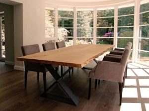 Обеденный стол в стиле лофт 16