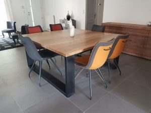 Обеденный стол в стиле лофт 19