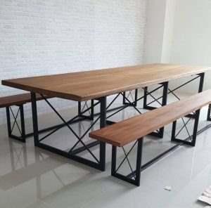 Обеденный стол в стиле лофт 4