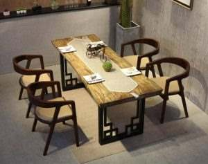 Обеденный стол в стиле лофт 6