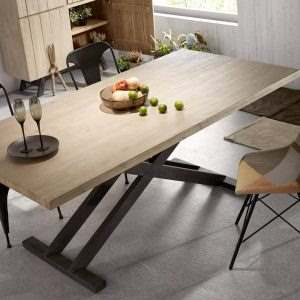 Обеденный стол в стиле лофт 7