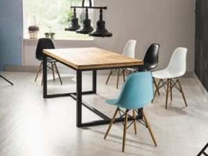 Обеденный стол в стиле лофт 9